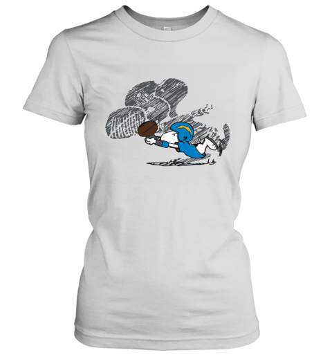 Los Angeles Chargers Snoopy Plays The Football Game Women's T-Shirt