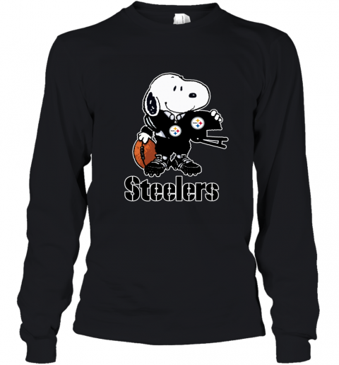 Snoopy A Strong And Proud Pittsburgh Steelers NFL Youth Long Sleeve