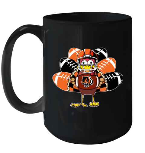 Cincinnati Bengals  Thanksgiving Turkey Football NFL Ceramic Mug 15oz