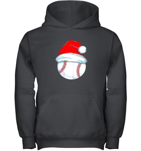 Christmas Baseball Shirt For Kids Men Ball Santa Pajama Youth Hoodie