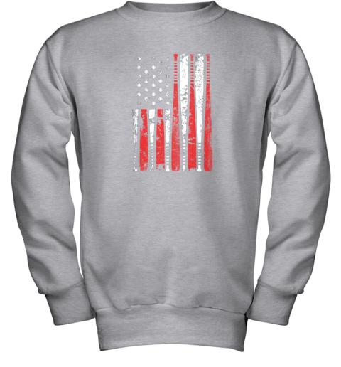 8tgx vintage baseball bat american usa flag gift youth sweatshirt 47 front sport grey