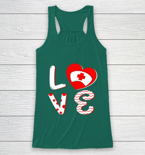 Medical Nurse Valentine Day Shirt Love Matching Racerback Tank 5