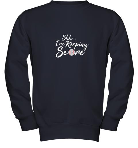 tt8o scorekeeper baseball team scorebook keeper youth sweatshirt 47 front navy