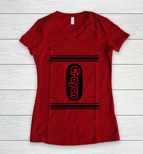Crayon Women's V-Neck T-Shirt 6