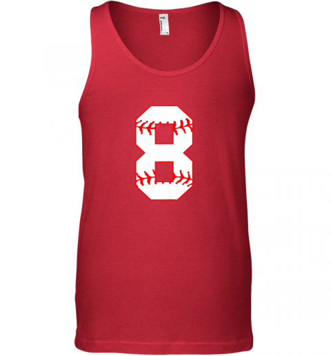 pewo cute eighth birthday party 8th baseball shirt born 2011 unisex tank 17 front red