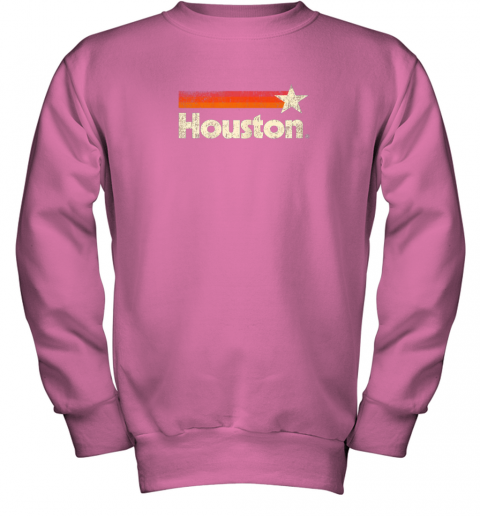t0lx houston texas shirt houston strong shirt vintage stripes youth sweatshirt 47 front safety pink