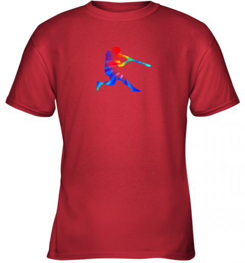 xwzm tie dye baseball batter shirt retro player coach boys gifts youth t shirt 26 front red