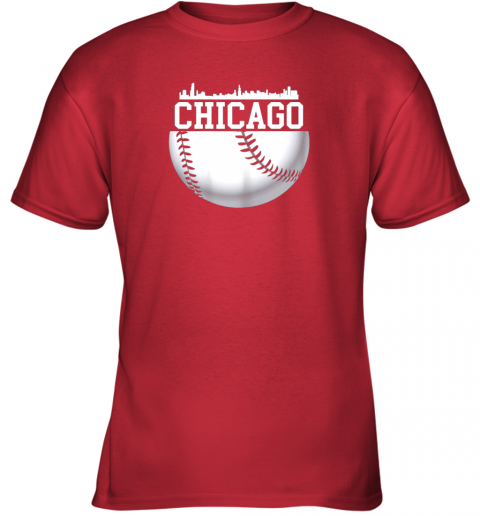 chju vintage downtown chicago shirt baseball retro illinois state youth t shirt 26 front red