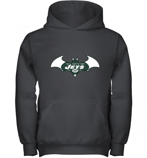 9ugy we are the new york jets batman nfl mashup youth hoodie 43 front black