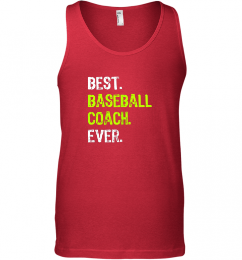 fdt1 best baseball coach ever funny gift unisex tank 17 front red