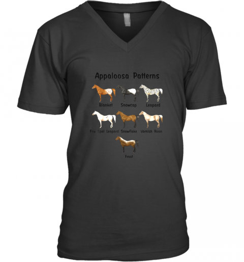 Appaloosa Patterns Gift For Riding Horse Lovers TShirt V-Neck T-Shirt