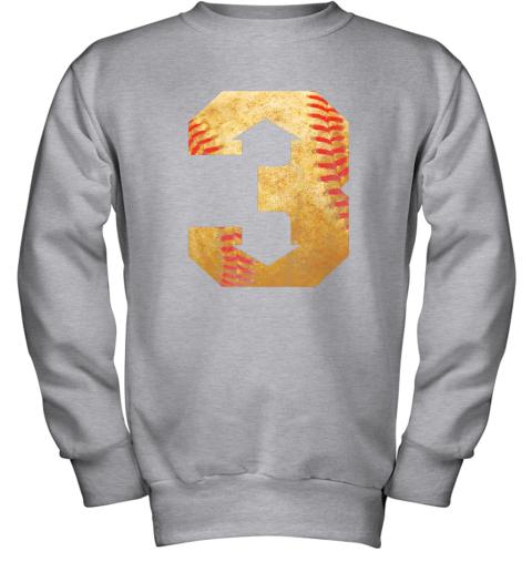 qrkl three up three down baseball 3 up 3 down youth sweatshirt 47 front sport grey