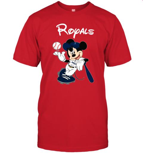 0pjt baseball mickey team kansas city royals jersey t shirt 60 front red