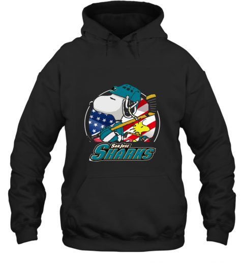 Sanjose Sharks Snoopy And Woodstock NHL Hoodie