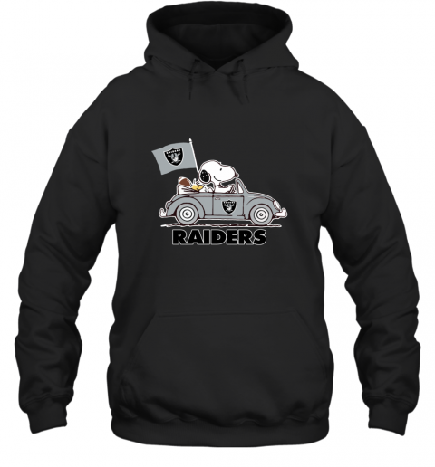 Snoopy And Woodstock Ride The Oakland Raiders Car Hoodie