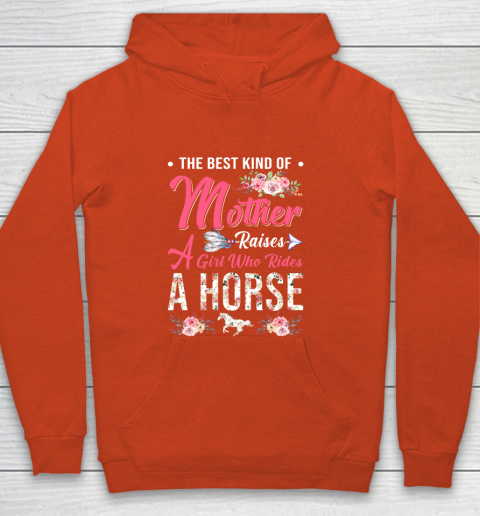 Horse riding the best mother raises a girl Youth Hoodie 3