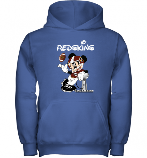 iofp mickey redskins taking the super bowl trophy football youth hoodie 43 front royal