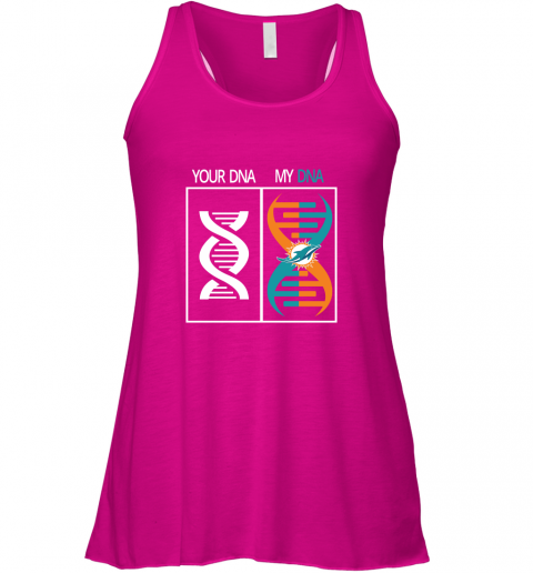 loaq my dna is the miami dolphins football nfl flowy tank 32 front neon pink