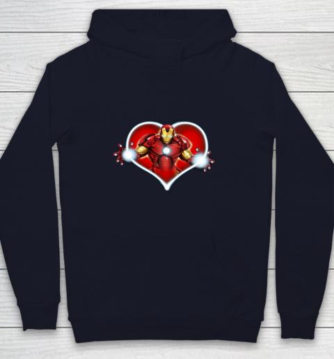 Marvel Iron Man Heart Blaster Glow Valentine Graphic Youth Hoodie 2
