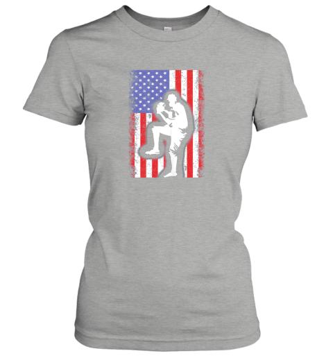 x8ce vintage usa american flag baseball player team gift ladies t shirt 20 front ash