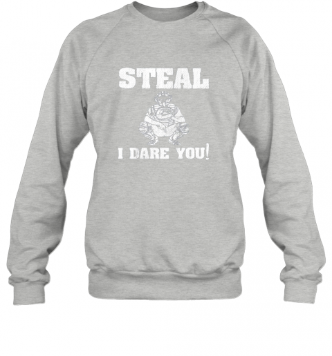 npmy kids baseball catcher gift funny youth shirt steal i dare you33 sweatshirt 35 front sport grey