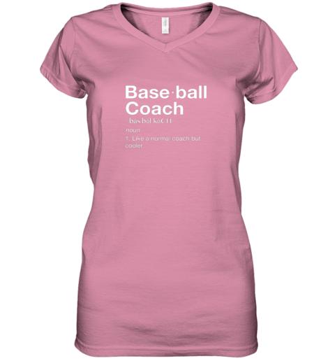 45om coach baseball shirt team coaching women v neck t shirt 39 front azalea
