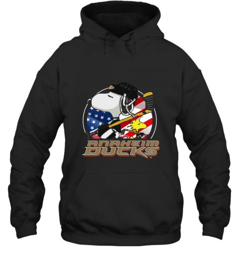 Anaheim Ducks  Snoopy And Woodstock NHL Hoodie