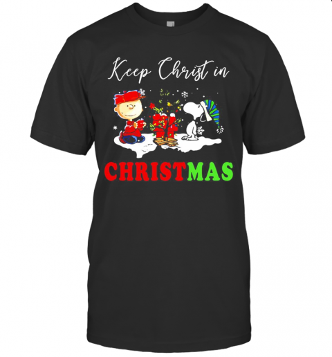Snoopy And Charibow Keep Christ In Christmas T-Shirt