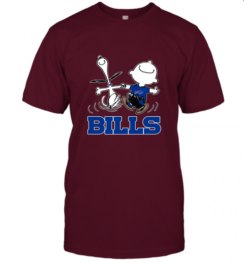 Snoopy And Charlie Brown Happy Buffalo Bills Fans Unisex Jersey Tee