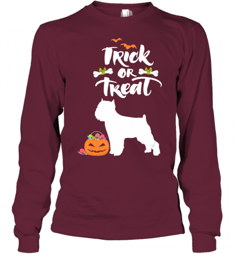 Trick Or Treat Brussels Griffon Dog Halloween Costume Youth Long Sleeve