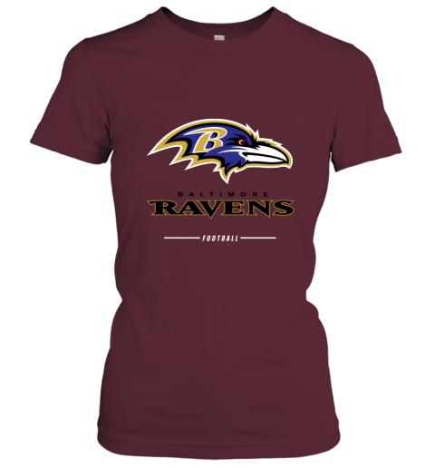 uuoi mens baltimore ravens nfl pro line black team lockup t shirt ladies t shirt 20 front maroon