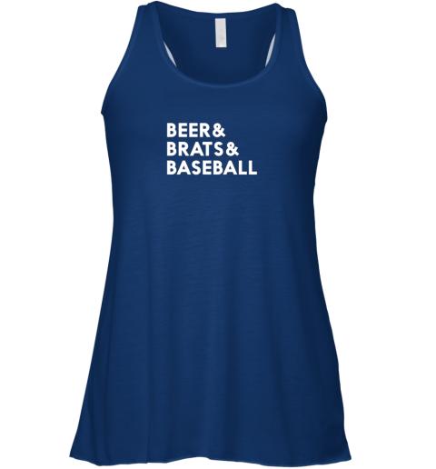 n0xu beer brats baseball summer ampersand list flowy tank 32 front true royal