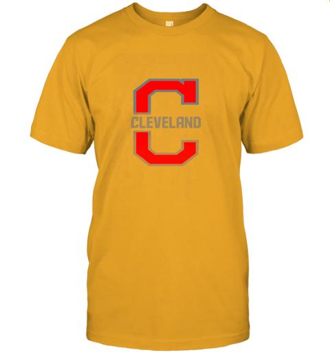 j8zq cleveland hometown indian tribe vintage for baseball fans jersey t shirt 60 front gold