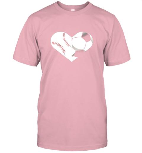 lbed soccer baseball heart sports tee baseball soccer jersey t shirt 60 front pink