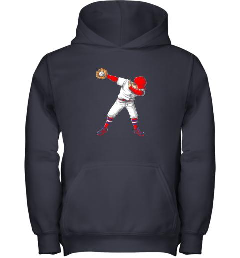kpci dabbing baseball t shirt funny dab dance shirts boys girls youth hoodie 43 front navy