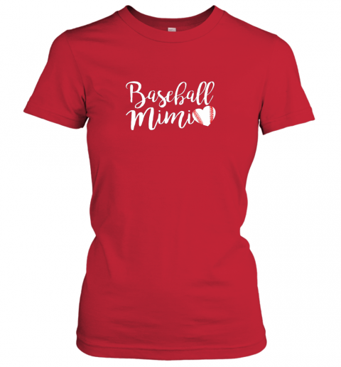 txl2 funny baseball mimi shirt gift ladies t shirt 20 front red