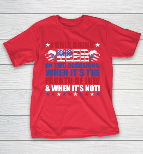 Beer Lover Funny Shirt Beer Fourth Of July T-Shirt 9