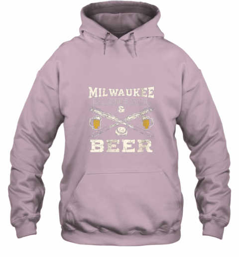 yx9o love milwaukee love baseball hoodie 23 front light pink