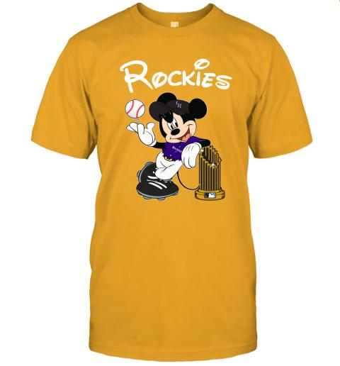mlib colorado rockies mickey taking the trophy mlb 2019 jersey t shirt 60 front gold