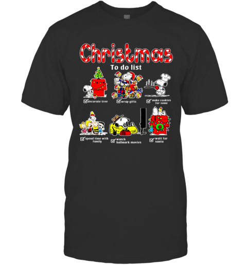 Christmas To Do List Snoopy Woodstock Ugly T-Shirt