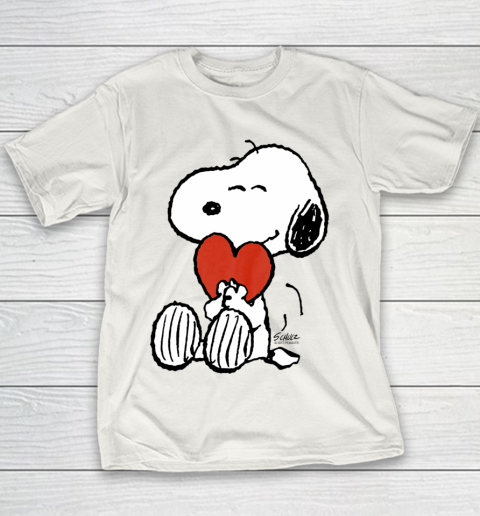 Peanuts Snoopy Heart Valentine Youth T-Shirt