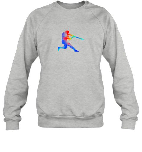 8eak tie dye baseball batter shirt retro player coach boys gifts sweatshirt 35 front sport grey
