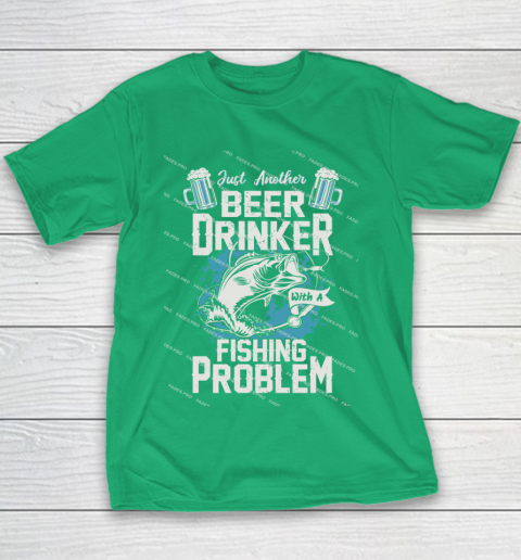 Beer Lover Funny Shirt Fishing ANd Beer Youth T-Shirt 3