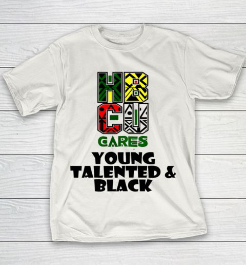 HBCU Cares College University Graduation Gift Black Schools Shirt Youth T-Shirt