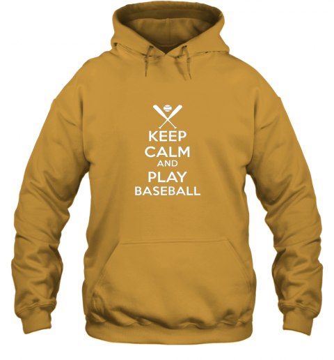 jsta keep calm and play baseball hoodie 23 front gold