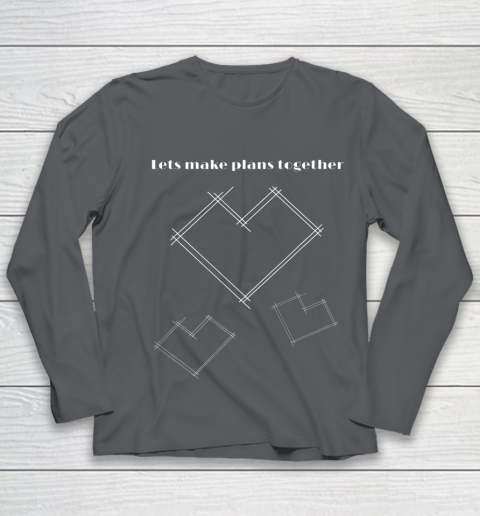 Valentine Architect T Shirt Heart Architecture Student Youth Long Sleeve 6
