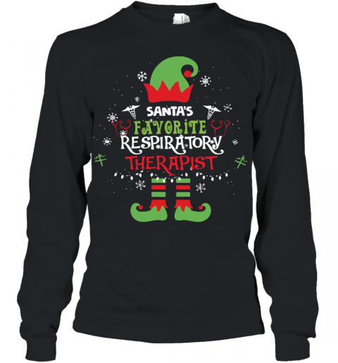 ELF Santa's Favorite Respiratory Therapist Youth Long Sleeve