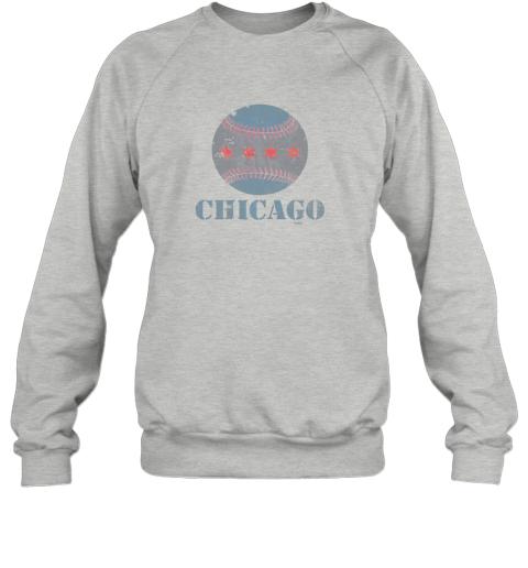 7h7m vintage chicago baseball flag sweatshirt 35 front sport grey