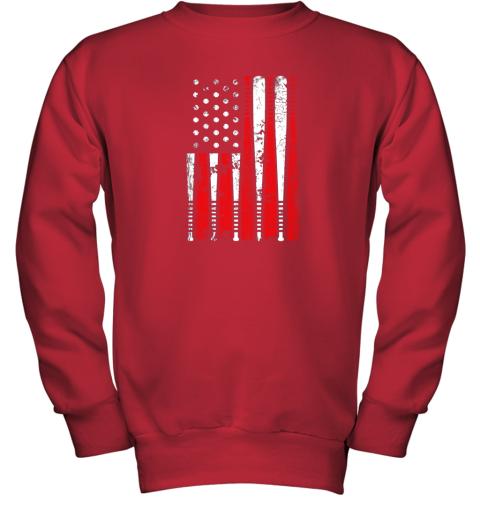 8tgx vintage baseball bat american usa flag gift youth sweatshirt 47 front red