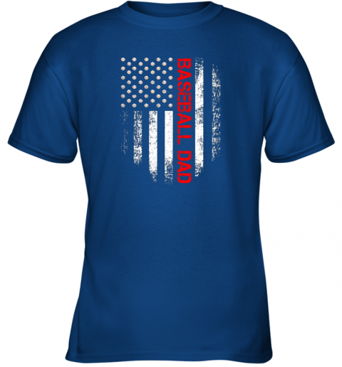 geol vintage usa american flag proud baseball dad player youth t shirt 26 front royal